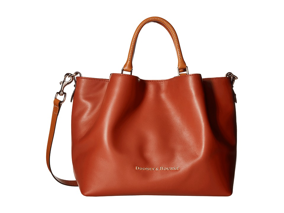 Dooney & Bourke - City Large Barlow (Cognac) Satchel Handbags