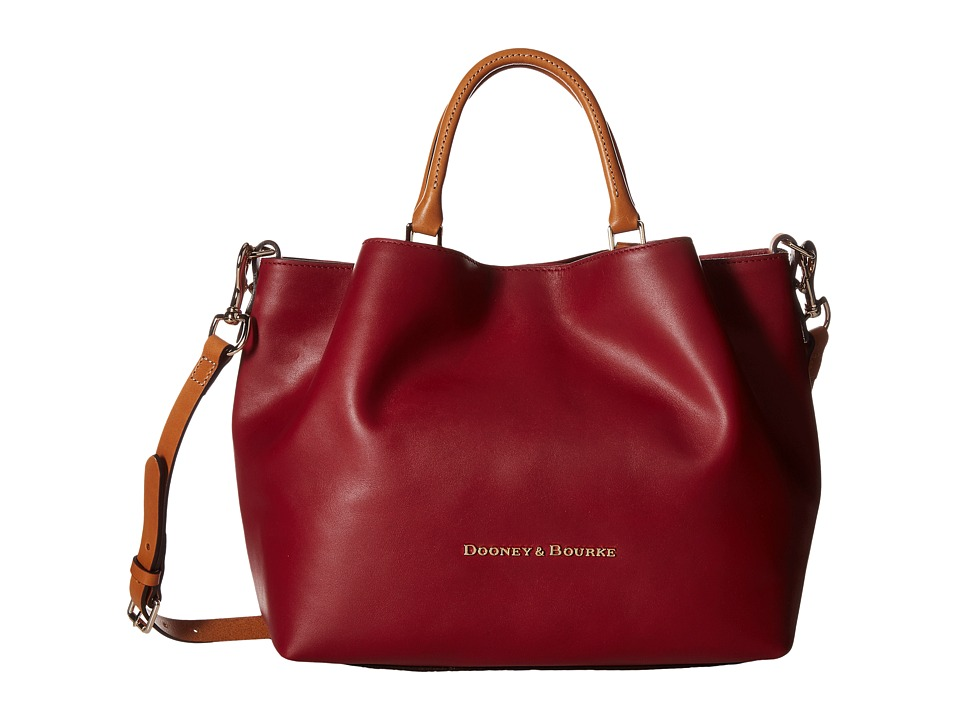 Dooney & Bourke - City Large Barlow (Wine) Satchel Handbags
