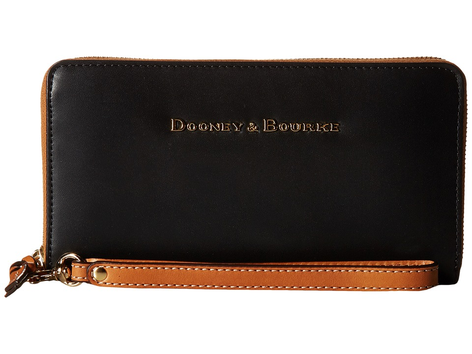 Dooney & Bourke - City Large Zip Around Wristlet (Black) Wristlet Handbags