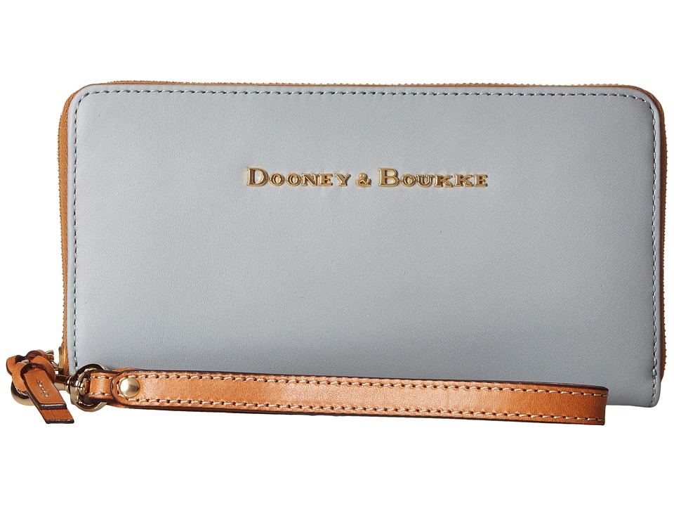 Dooney & Bourke - City Large Zip Around Wristlet (Ice Blue) Wristlet Handbags