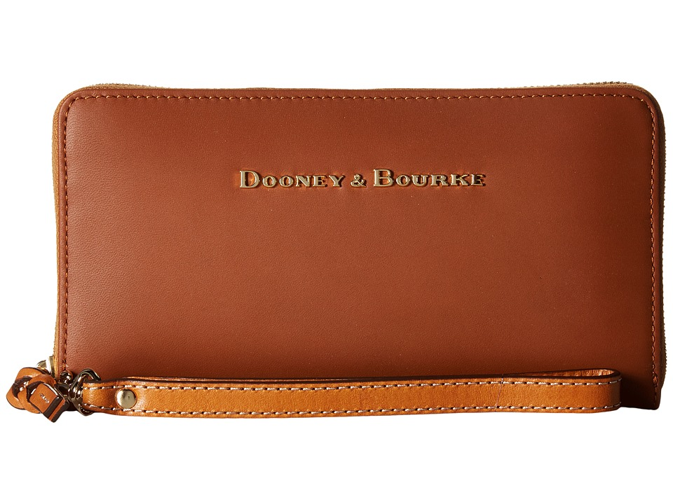 Dooney & Bourke - City Large Zip Around Wristlet (Natural) Wristlet Handbags