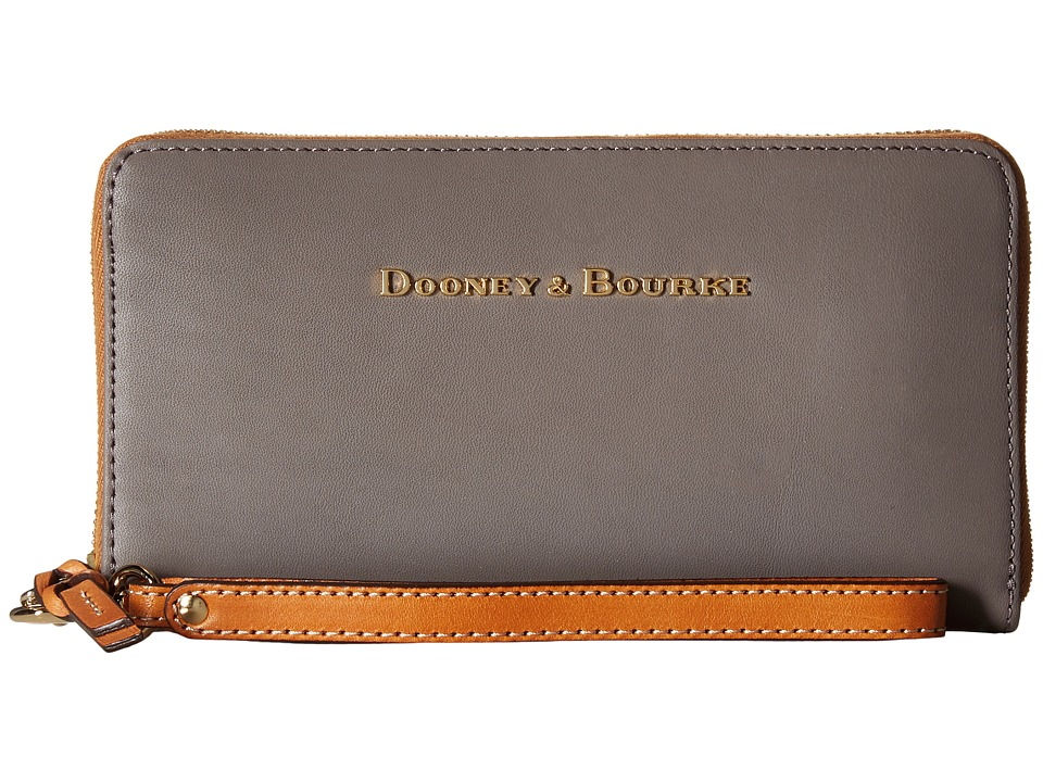 Dooney & Bourke - City Large Zip Around Wristlet (Taupe) Wristlet Handbags