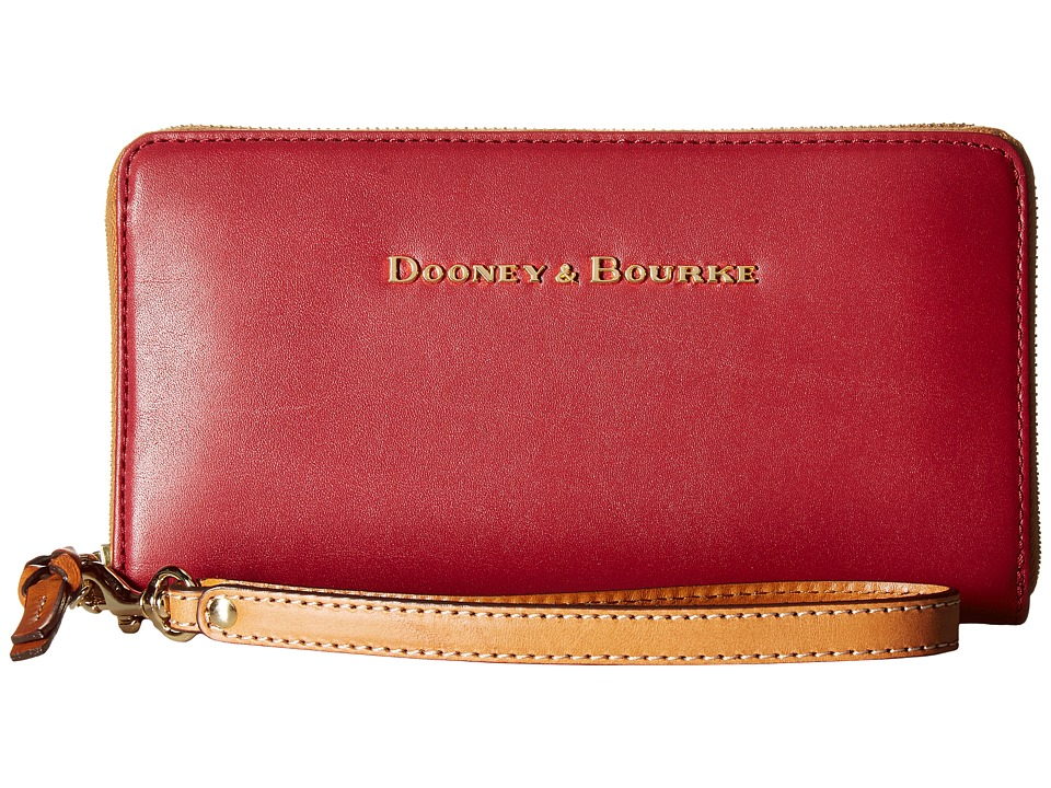 Dooney & Bourke - City Large Zip Around Wristlet (Wine) Wristlet Handbags