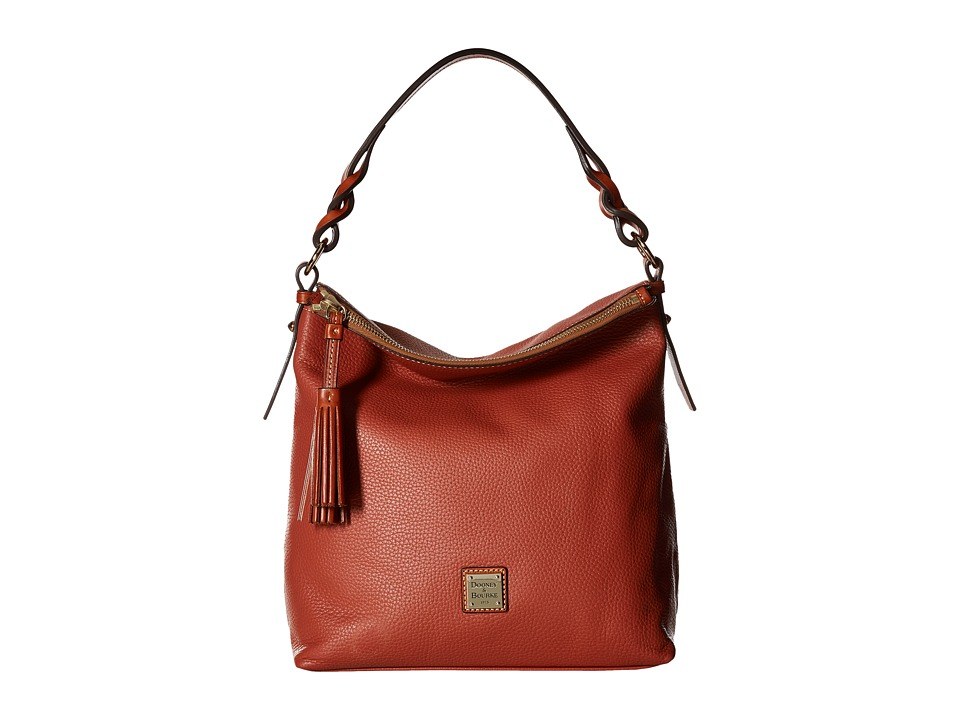Dooney & Bourke - Pebble Small Sloan (Burnt Orange) Handbags