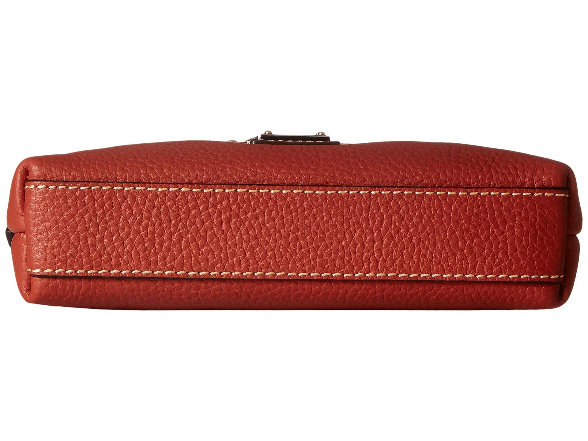 Dooney bourke pebble leather letter carrier burnt orange for Best shoes for letter carriers