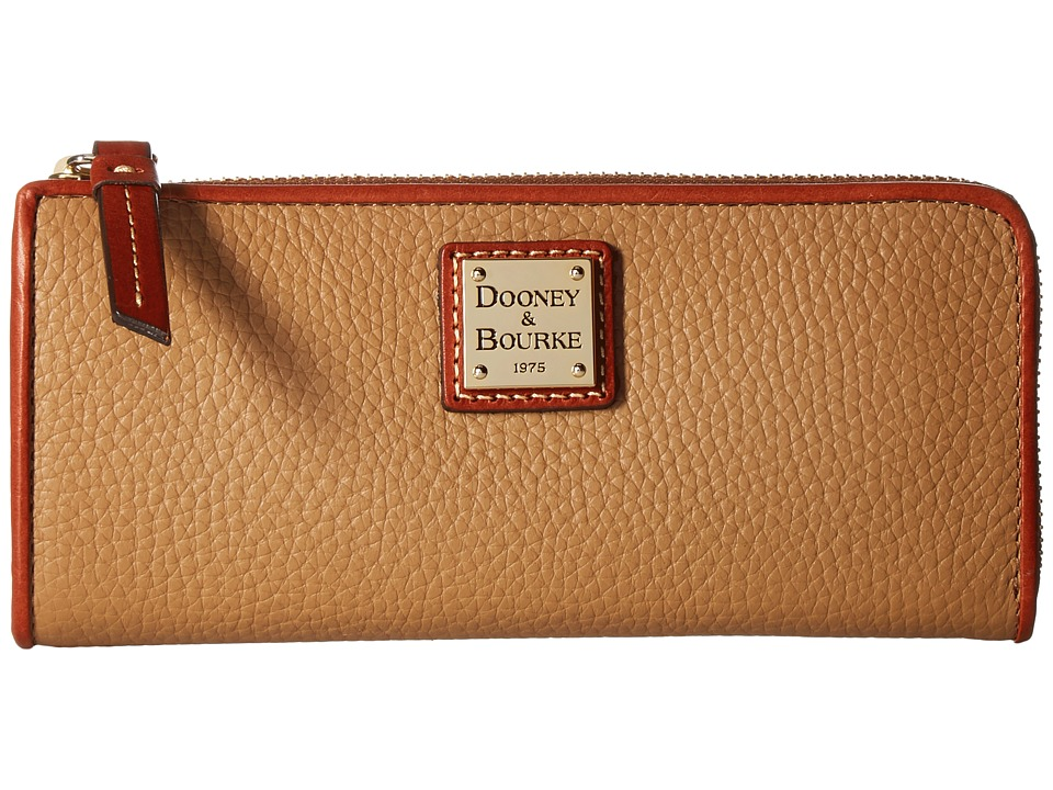 Dooney & Bourke Pebble Zip Clutch (Desert) Clutch Handbags
