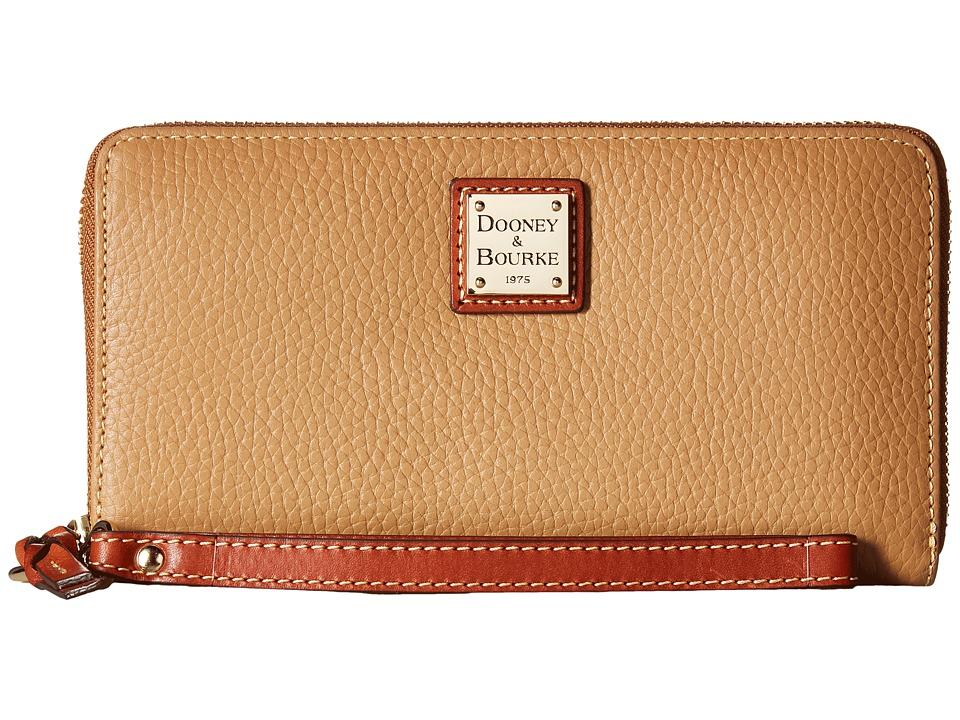 Dooney & Bourke - Pebble Leather Large Zip Around Wristle...