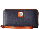 Dooney & Bourke Pebble Leather Large Zip Around Wristlet