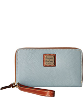 Dooney & Bourke - Pebble Leather New SLGS Zip Around Credit Card Phone Wristlet
