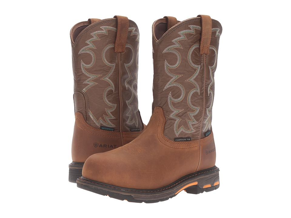 Ariat Workhog Pull-On CT WP (Aged Bark/Army Green) Women