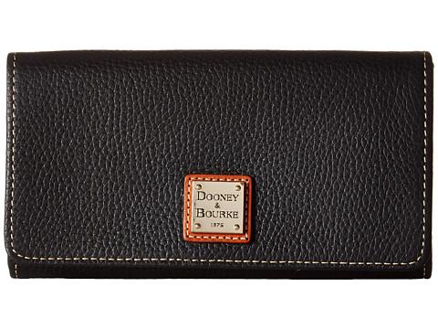Dooney & Bourke Pebble Leather Daphne Crossbody Wallet - Black