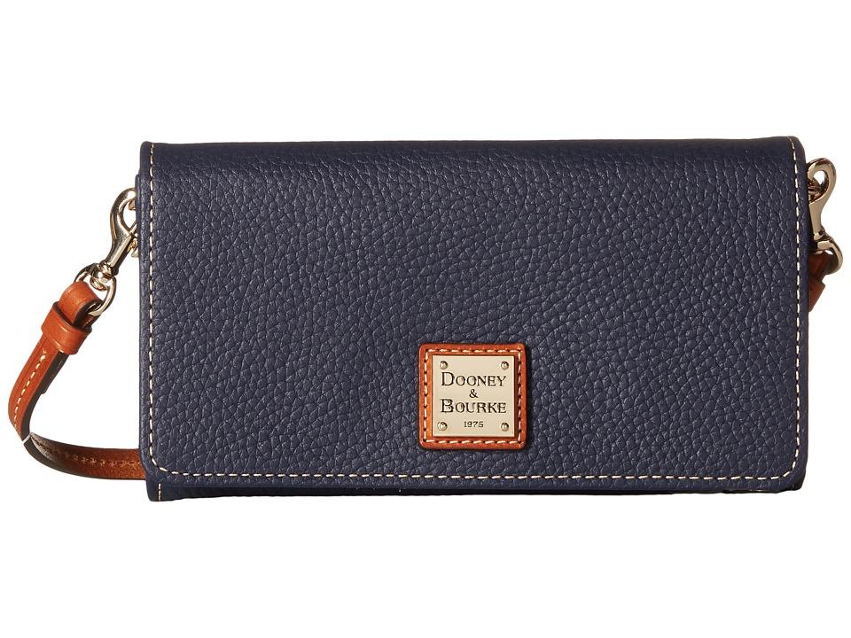Dooney & Bourke - Pebble Leather Daphne Crossbody Wallet (Midnight Blue) Wallet Handbags