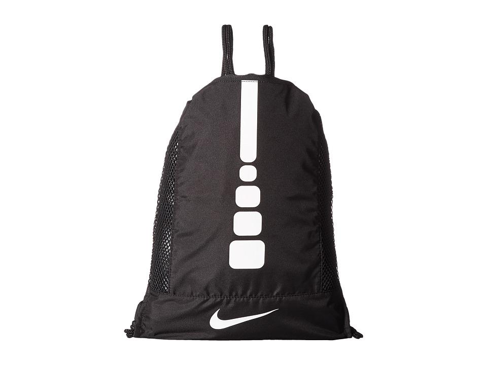 Nike - Hoops Elite Gym Sack (Black/Black/White) Bags