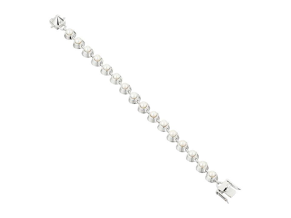 Eddie Borgo Pearl Cabochon Bracelet Shiny Plated Brass/Pearl Bracelet