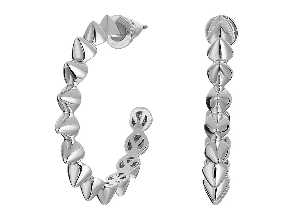 Eddie Borgo Mini Cone Small Hoop Shiny Plated Brass Earring