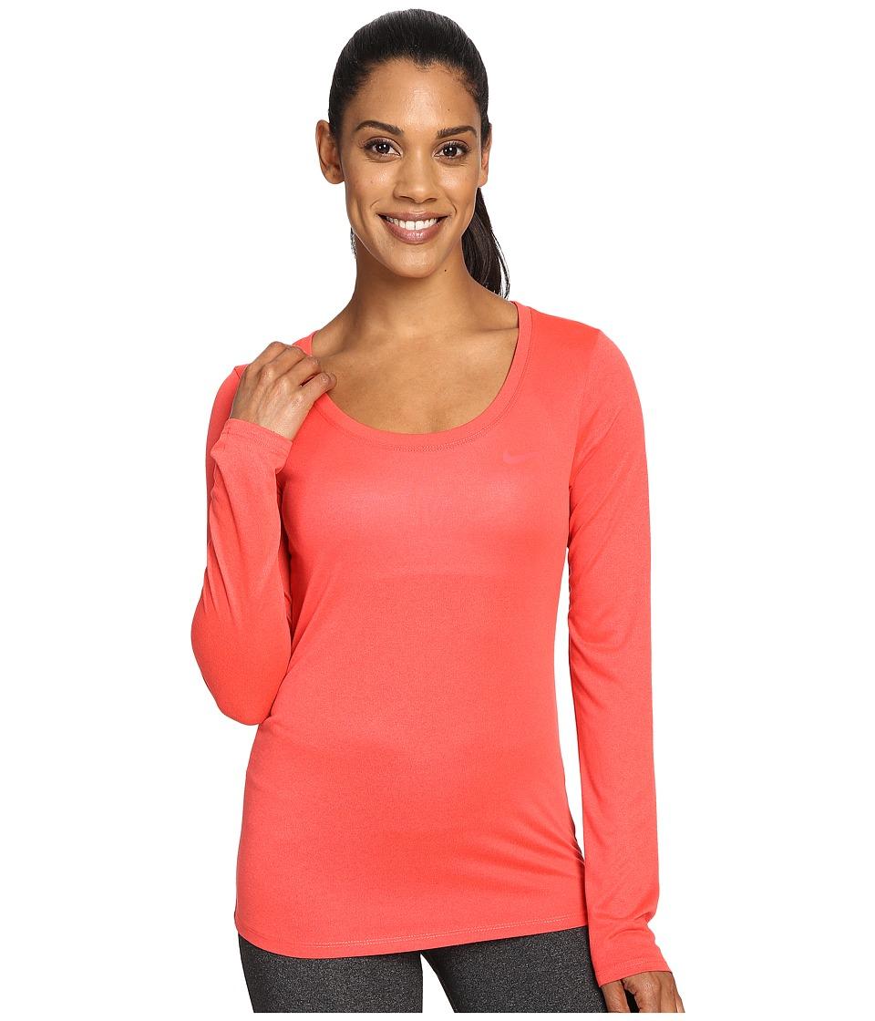 Nike Dry Long Sleeve Training Top (Ember Glow) Women