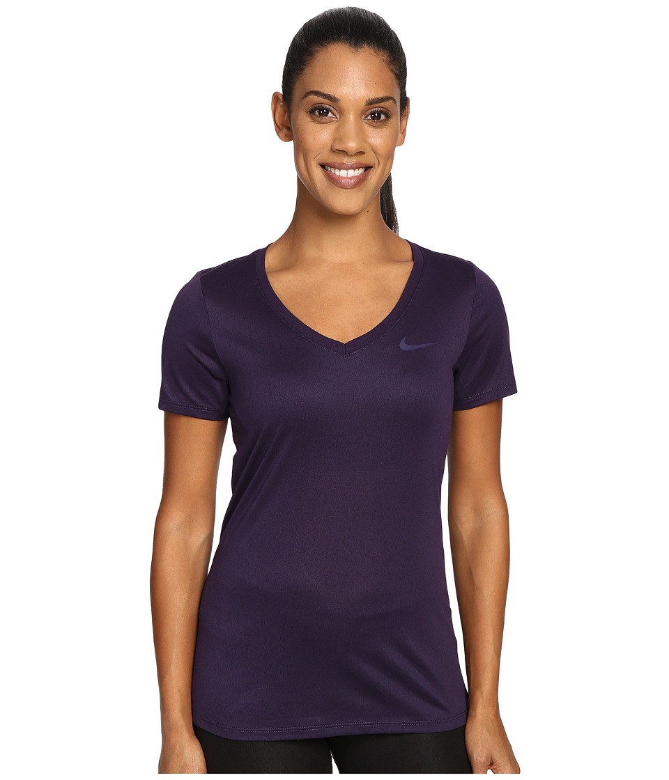 Nike Dry Legend V-Neck Shirt (Purple Dynasty/Purple Dynasty) Women
