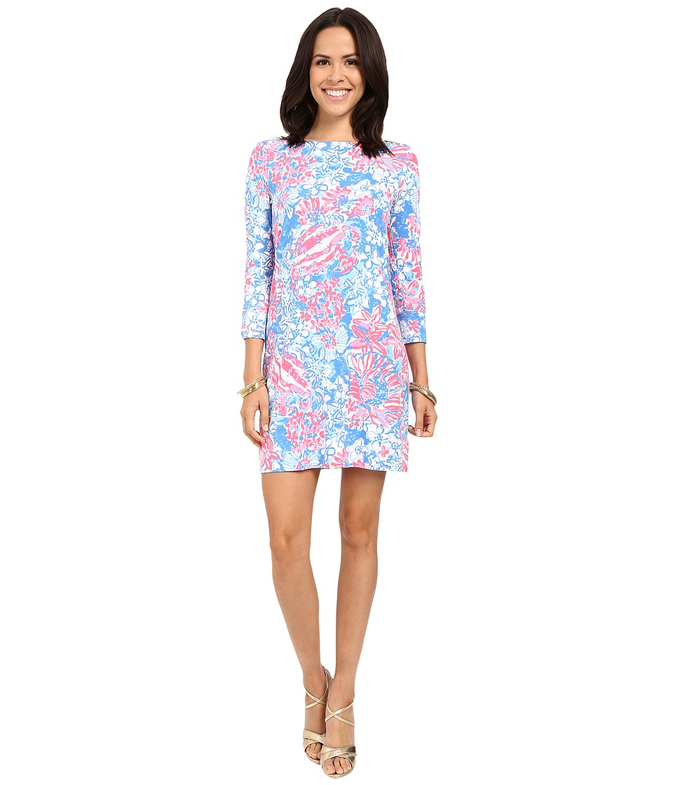 Lilly Pulitzer UPF 50 Sophie Dress Bay Blue Pop Pop Womens Dress