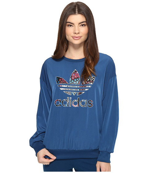 adidas Originals Trefoil Sweatshirt - Tech Steel/Multicolor