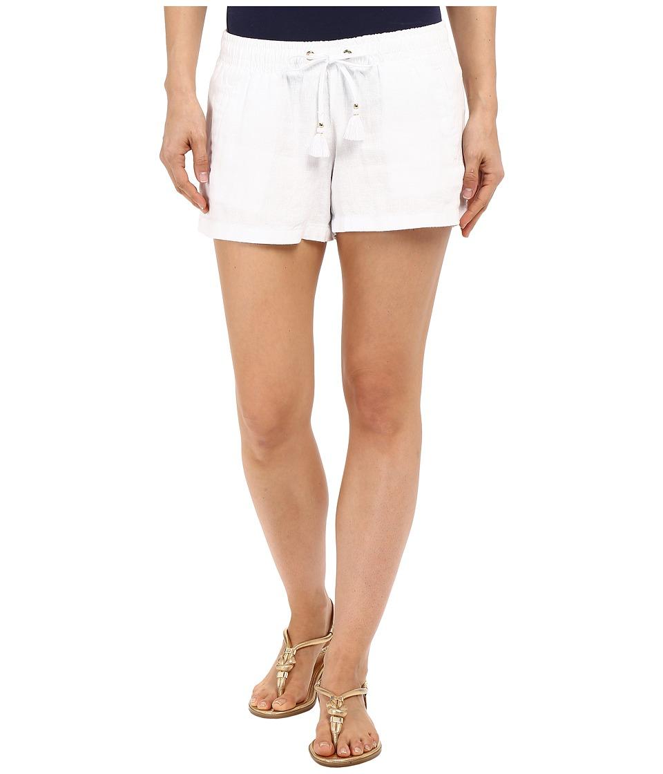 Lilly Pulitzer Beach Shorts Resort White Womens Shorts