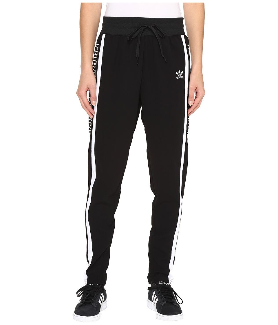 Image of adidas Originals - 3-Stripes Low Crotch Track Pants (Black/White/Black) Women's Workout