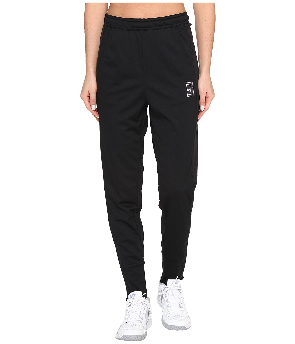 Nike Court Dry Tennis Pant (Black/White) Women's Casual P...