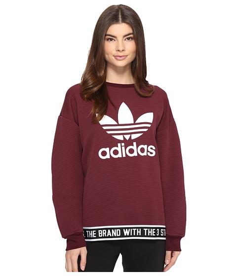 adidas Originals Trefoil Sweatshirt - Maroon/White/White