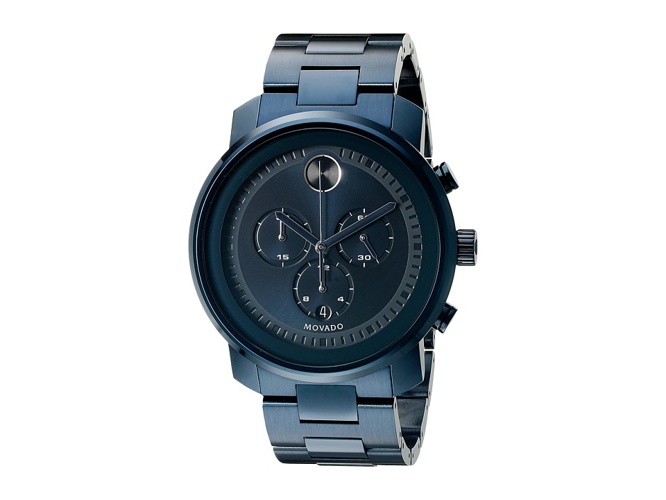 Movado Bold - 3600279 (Ionic Plated Blue Steel) Watches