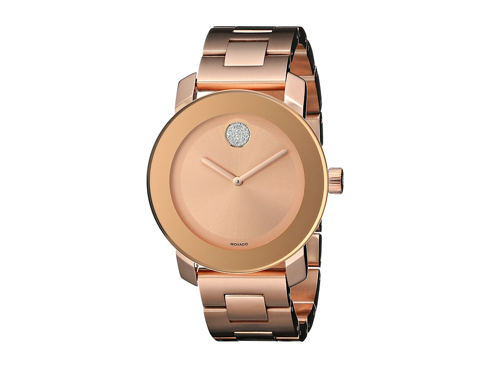 Movado Bold 3600086 Ionic Rose Gold Plated Steel Watches
