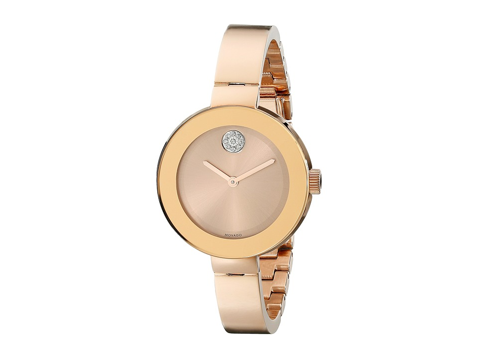 Movado Bold 3600202 Ionic Rose Gold Plated Steel Watches