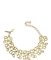 Oscar de la Renta - Textured Chain Link Choker with Small Taffeta Bow Necklace