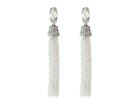 Oscar de la Renta Crystal Tassel C Earrings