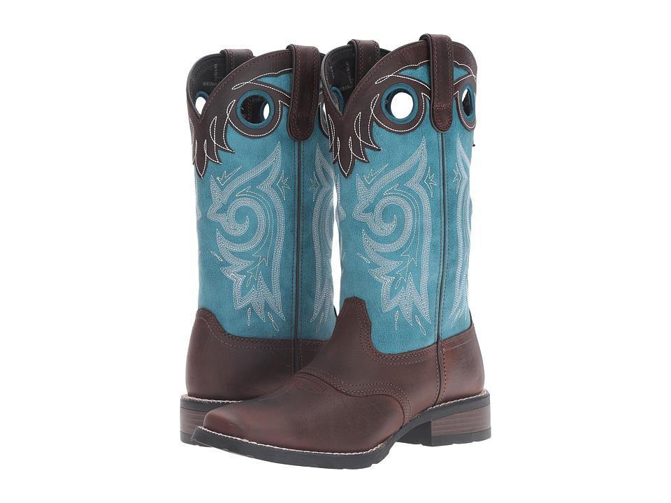 Durango Mustang 12 (Brown/Teal) Cowboy Boots