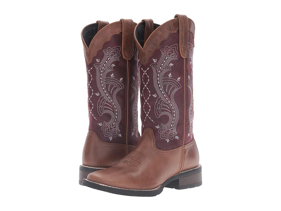 Durango Mustang 12 (Brown/Plum) Cowboy Boots