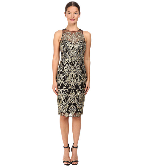 Marchesa Notte Embroidered Sheath