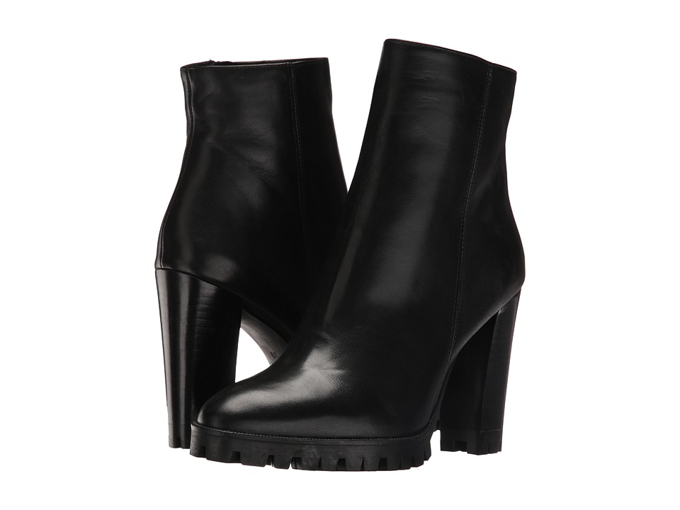 The Kooples Anne Boots Classic Black Smooth Leather (Black) Women