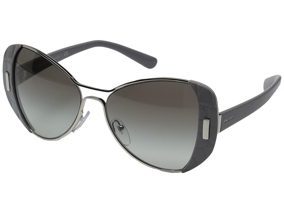 Prada 0PR 60SS (Silver Grey/Grey Gradient) Fashion Sungla...