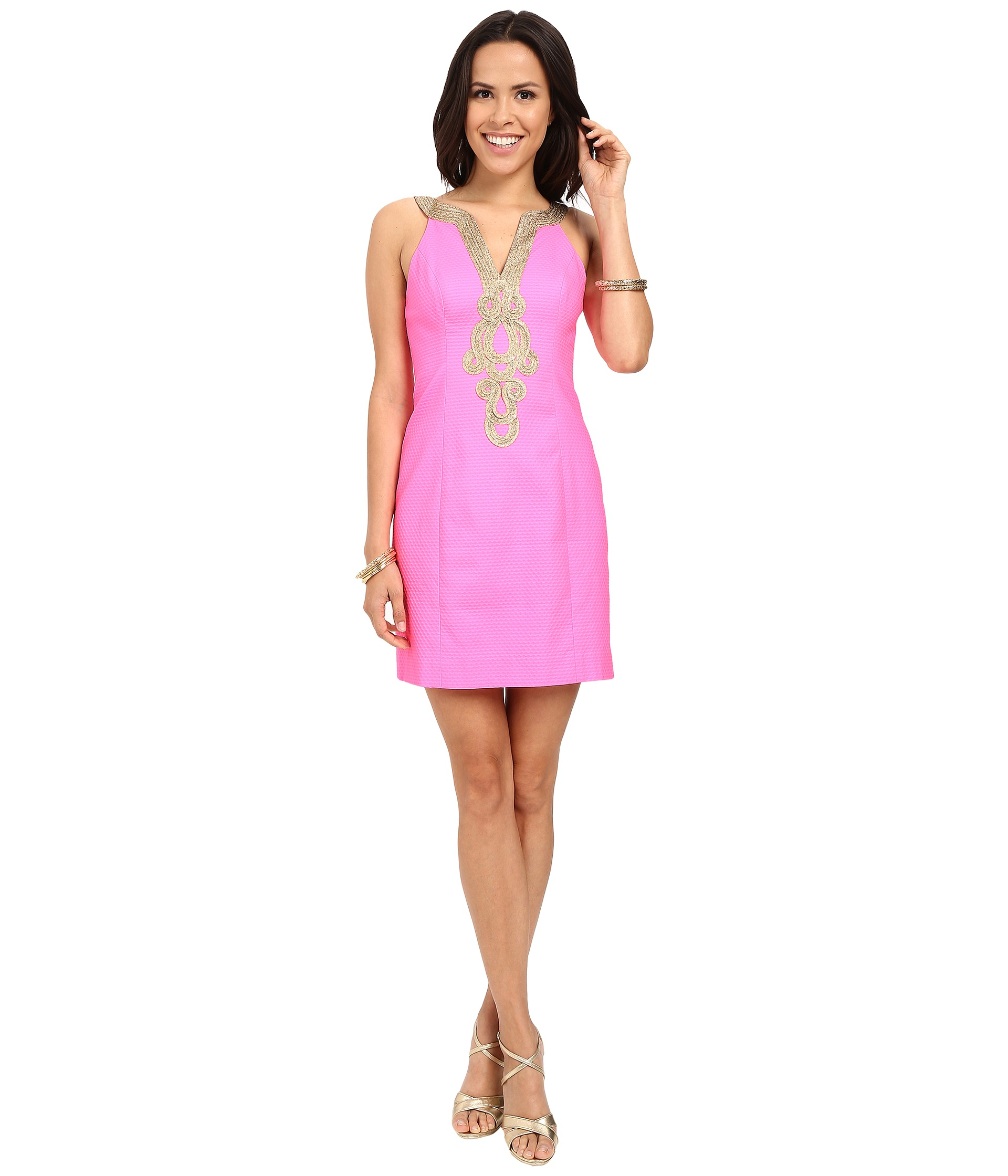 Lilly Pulitzer Emery Shift Dress Pink Pout - Zappos.com ...