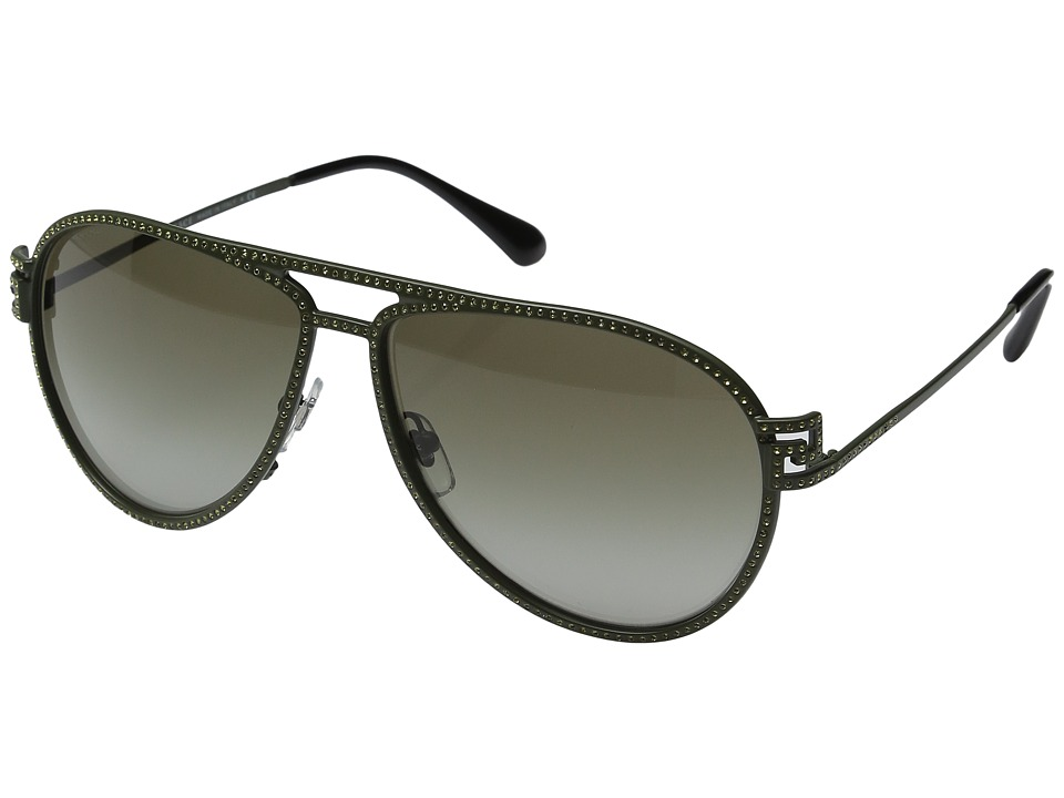 Versace - VE2171B (Matte Army/Green Gradient) Fashion Sunglasses