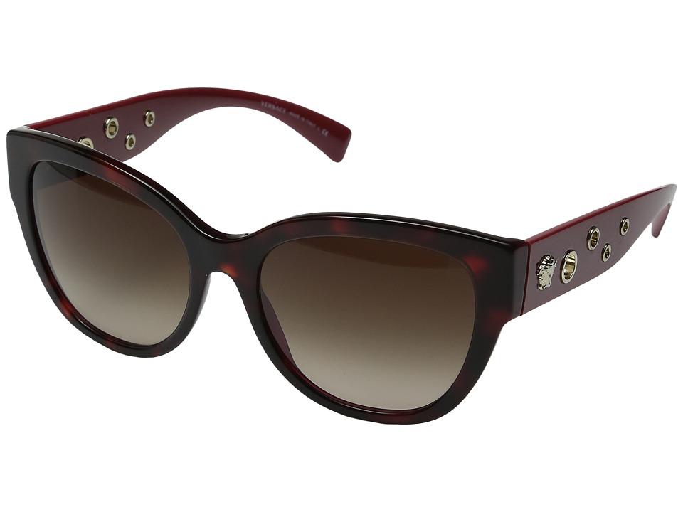 Versace VE4314 (Havana/Bordeaux/Light Brown Gradient) Fas...
