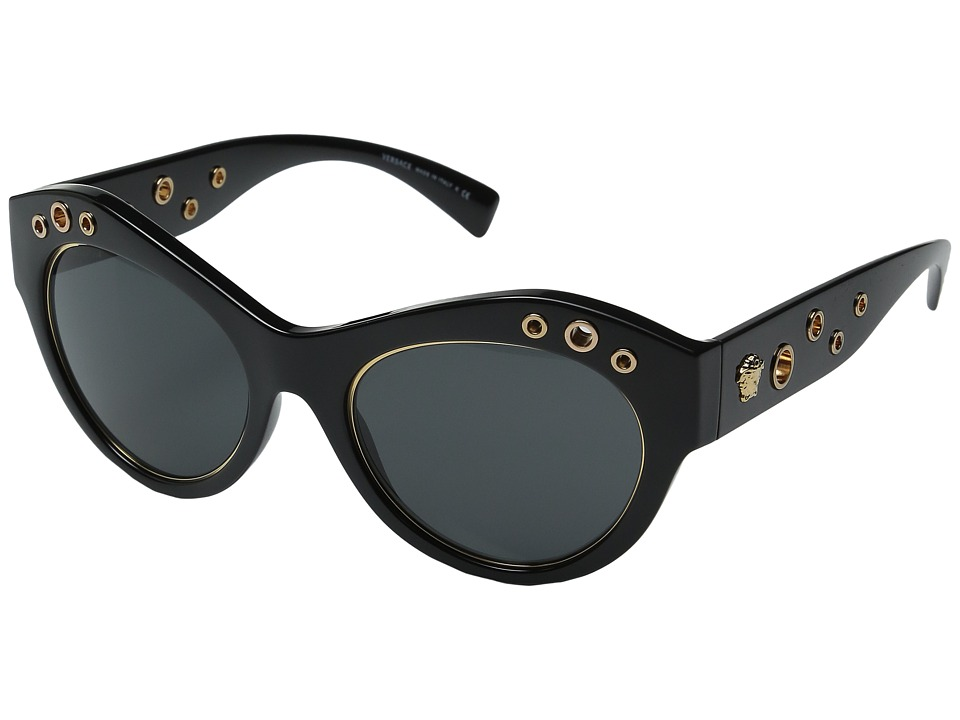 Versace - VE4320 (Black/Dark Grey) Fashion Sunglasses