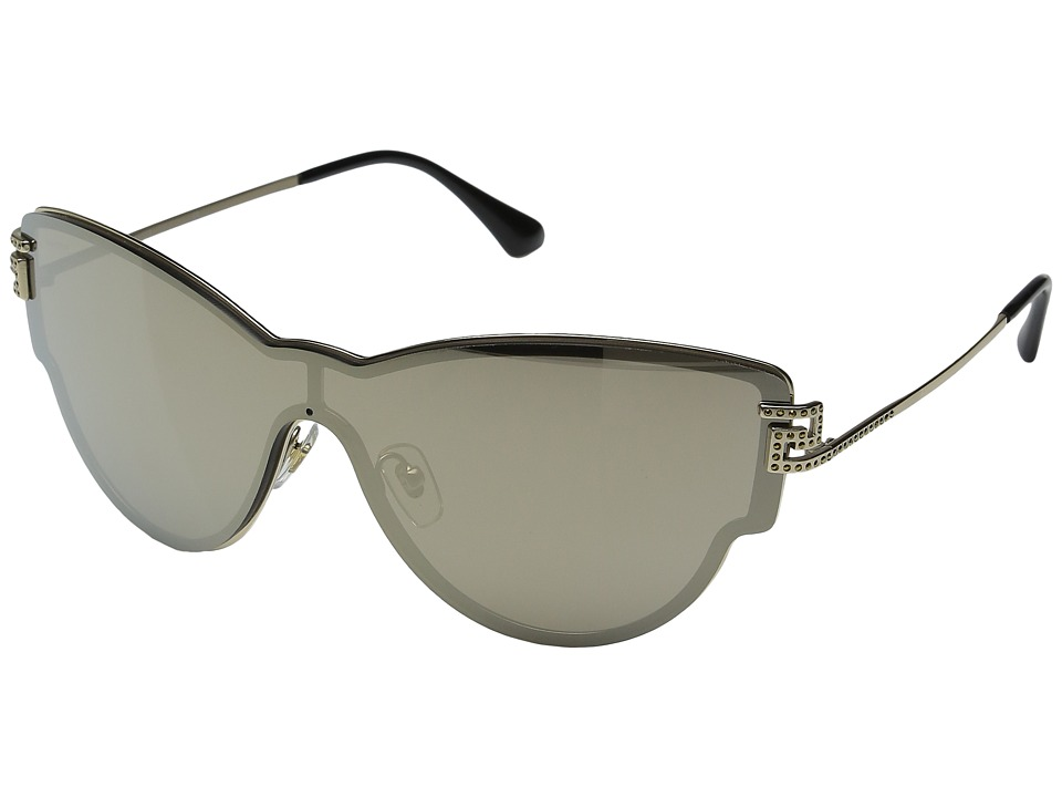 Versace - VE2172B (Pale Gold/Light Brown/Mirror Gold) Fashion Sunglasses