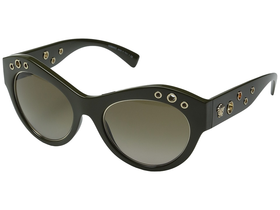 Versace - VE4320 (Dark Green/Light Brown Gradient) Fashion Sunglasses