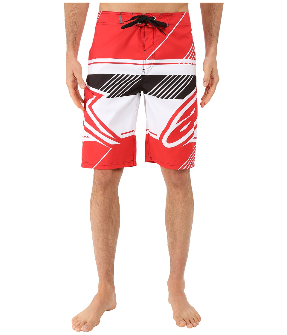 Alpinestars Beta Boardshorts Red Mens Swimwear