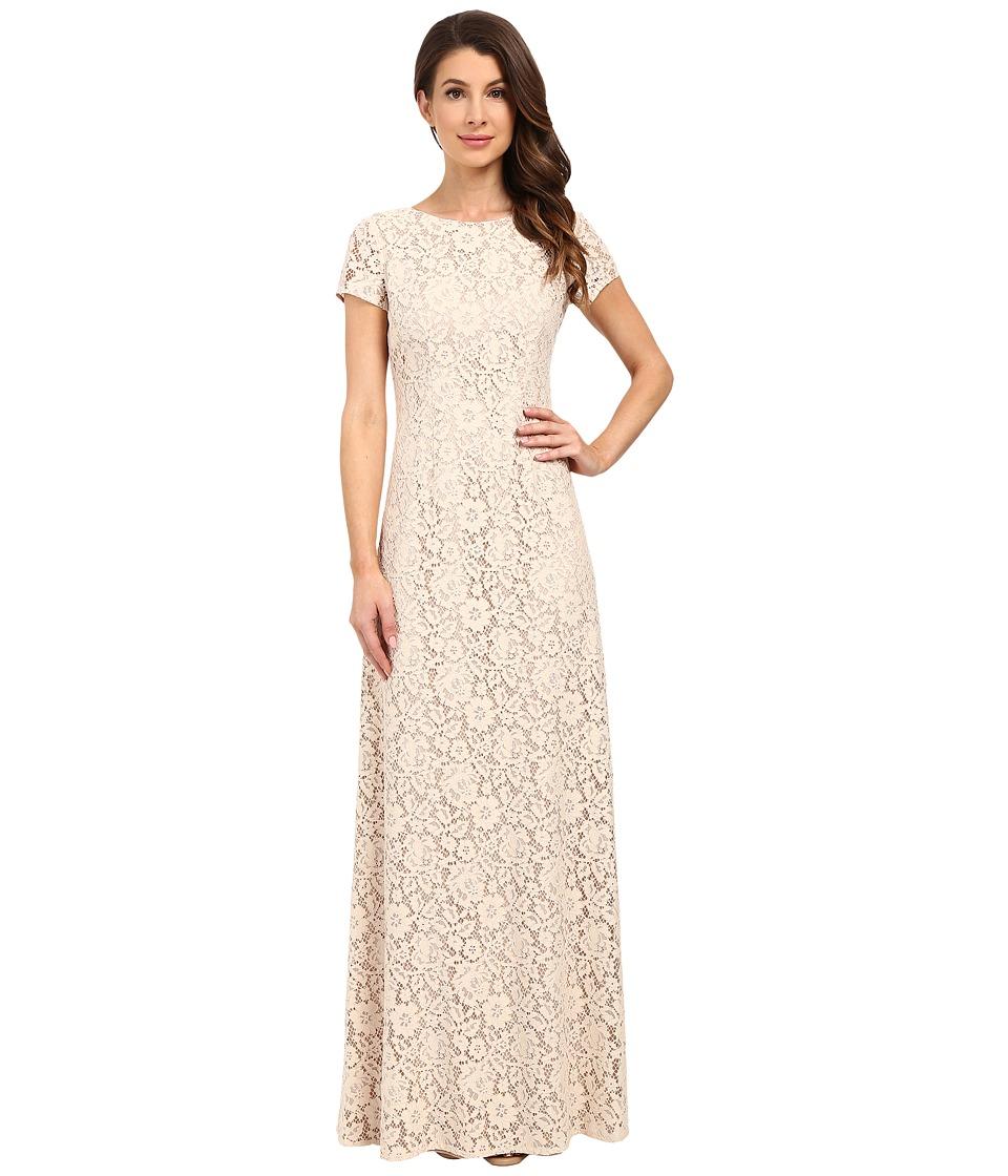 Donna Morgan Alice Cap Sleeve Dress (Fawn) Women