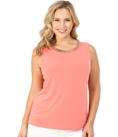 Calvin Klein Plus - Plus Size Sleeveless Top w/ Chain Necklace