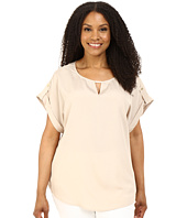 Calvin Klein Plus - Plus Size Short Sleeve Top w/ Hardware