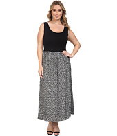 Calvin Klein Plus - Plus Size Maxi Dress w/ Jaquard Bottom