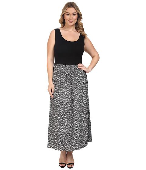 Calvin Klein Plus Plus Size Maxi Dress w/ Jaquard Bottom