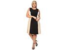 Plus Size Color Block Flare Dress